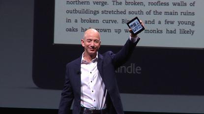 Jeff Bezos with paperwhite
