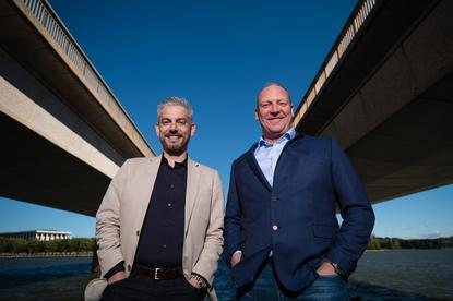 James Kavanagh, Azure Engineering Lead for Microsoft Australia and Greg Boorer, CEO, Canberra Data Centres