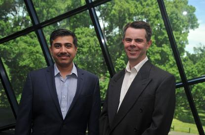 Ajay Bhatia (left) with Michael Ridgway