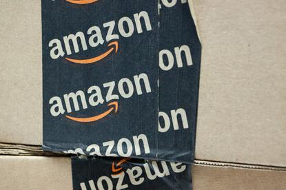 Amazon logo on tape