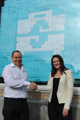 Serko CEO Darrin Grafton and Xero managing director Anna Curzon at the launch of serko.travel