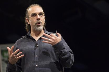 Astro Teller, who oversees Google X, speaks at the South by Southwest (SXSW) interactive film and music conference in Austin on Tuesday. Credit: Laura Buckman/Reuters