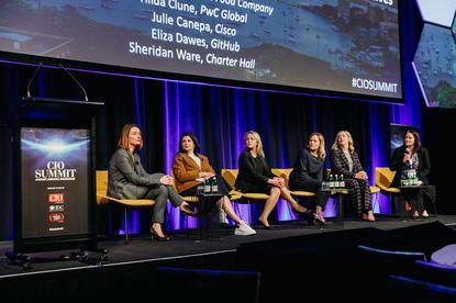 Women in IT panel at the CIO Summit