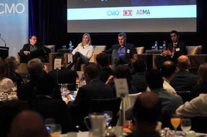 Panelists (left to right): Super Retail Group's Kevin McAulay, REA Group's Natalie Feehan and Nigel Dalton, and AIA's Tim Tez.