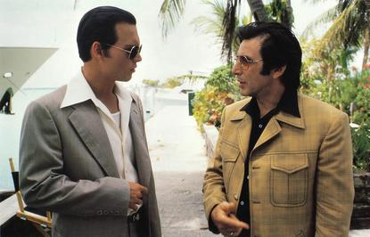 Johnny Depp (left) and Al Pacino star in 'Donnie Brasco'   Image: TriStar Pictures
