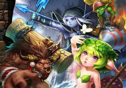 Blizzard is accusing Soul Clash, depicted above, of copying its Warcraft games.