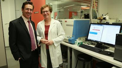 Dr Ian Gibson (left) has stepped down from Intersect Australia