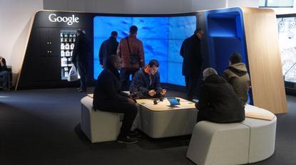 Inside the Google Shop in London.
