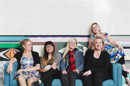 Girl Geek Academy staff (left to right) April Staines, Lisy Kane, Tammy Butow, Amanda Watts and Sarah Moran