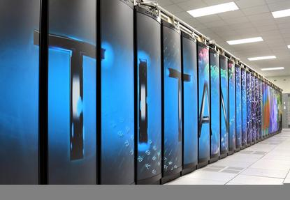 The 20-petaflop Titan supercomputer at the Oak Ridge National Laboratory Credit: Oak Ridge National Laboratory