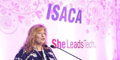 Jo Stewart-Rattray at the recent SheLeadsTech event at the ASB Cube in Auckland