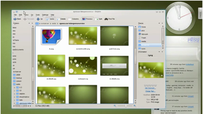 KDE 4's default theme Oxygen is getting new animation features for KDE 4.4.