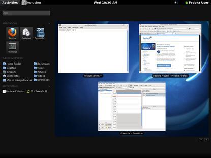 Fedora 13 ships the Gnome 2.3 desktop environment