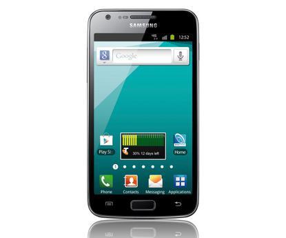 Samsung Galaxy S II 4G front view