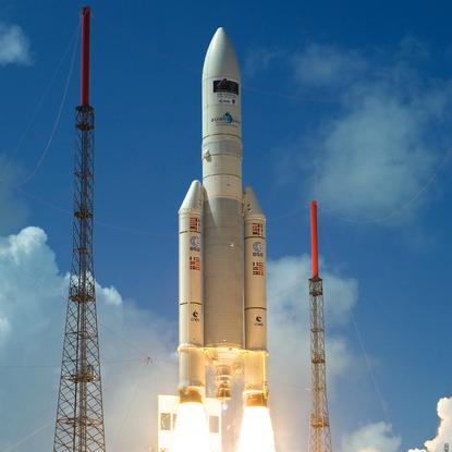 An Arianespace rocket launch