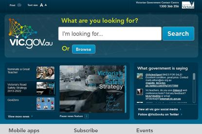 A large search bar appears on every page of the revamped government website.