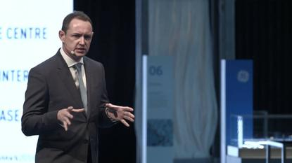 """GE's Mark Sheppard: """"We are on quite a journey in the industrial internet space.""""''  Image courtesy of GE."""