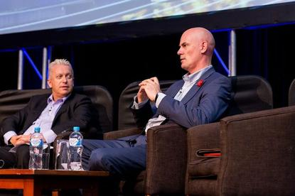 Matthew Perry discussing DuluxGroup's technology transformation at the 2015 Melbourne CIO Summit