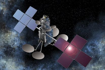 An artist's impression of the Sky Muster satellite