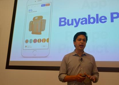 Pinterest CEO Ben Silbermann, discussing the company's new e-commerce product on June 2, 2015, in San Francisco.