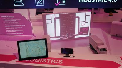 At Cebit, Deutsche Telekom and SAP are showing how the two have improved logistics in the Hamburg port.