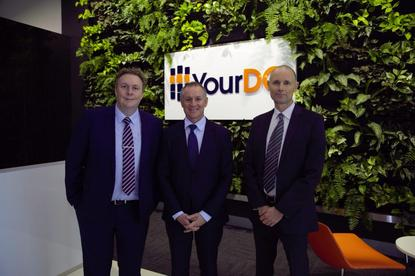 Hicks, Weatherill and Siegele at the launch of YourDC Edinburge