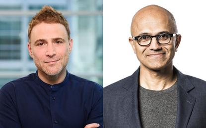 Stewart Butterfield (CEO - Slack) and Satya Nadella (CEO - Microsoft)