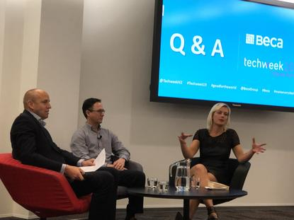 Panel discussion on 'making the future less scary'  at Beca during Techweek 2019