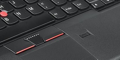 Fingerprint reader on laptop