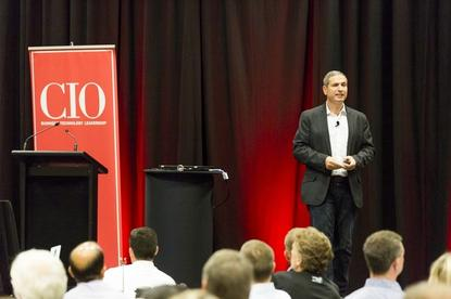 Avi Golan talks about unleashing digital transformation at Air New Zealand, at the 2017 CIO100 event in Auckland.