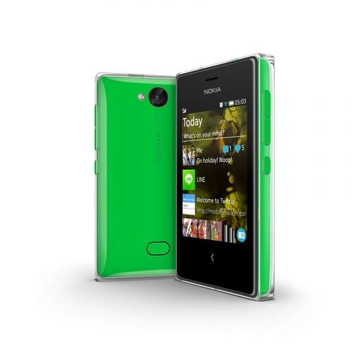 The Asha 503 has a 3-inch screen and a 5-megapixel camera.