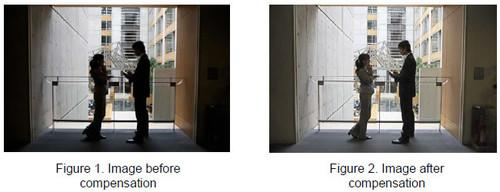 Hitachi's enhanced image processing technology makes projected video easier to see in brightly lit rooms.