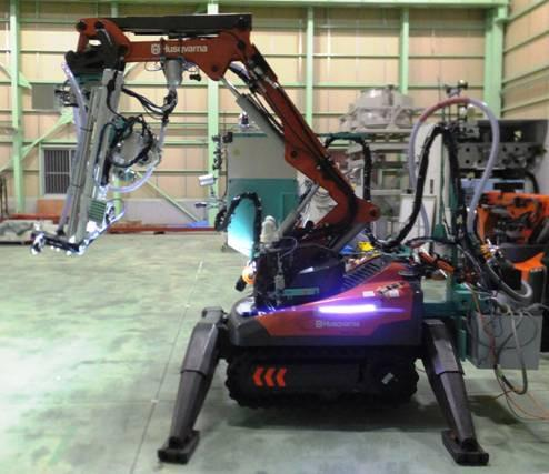 A modified Husqvarna demolition robot has been put to work decontaminating the Unit 2 reactor building at Japan's Fukushima Dai-ichi nuclear plant, which experienced a meltdown in 2011.