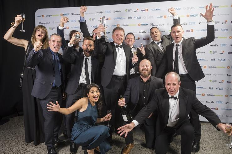 The winners of the 2016 NZ Hi-Tech Awards