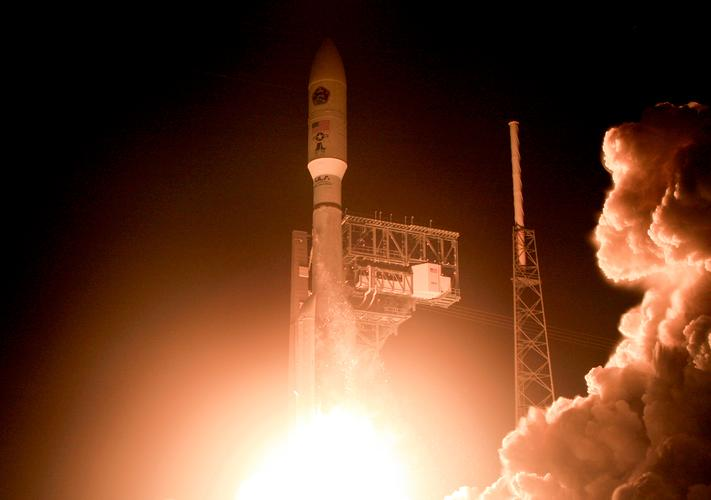 A United Launch Alliance Atlas 5 rocket lifts off from the Cape Canaveral Air Force Station in Cape Canaveral, Florida, US (August 2019)
