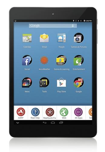 RealPad tablet for technology-shy baby boomers. Made by Intel and AARP.