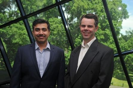 Ajay Bhatia (left) with Michael Ridgway