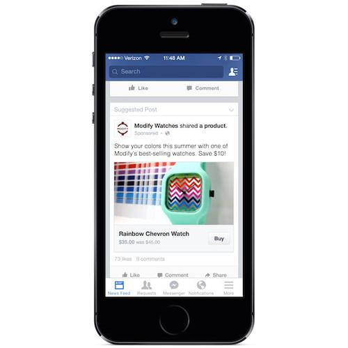 Facebook tests a feature to let users purchase items directly from the feed.