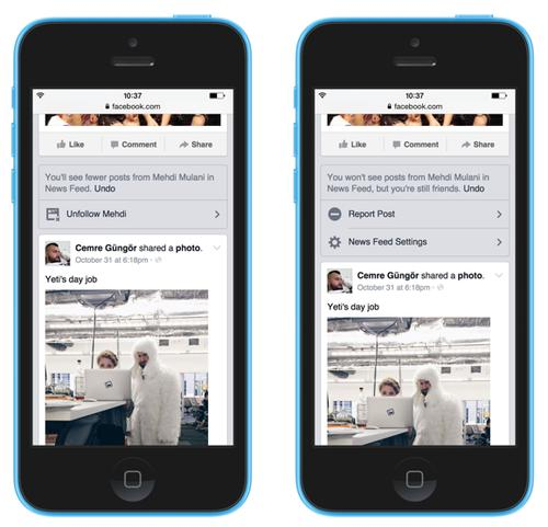Facebook's news feed, pictured Nov. 7, 2014, now gives users more options to filter content.