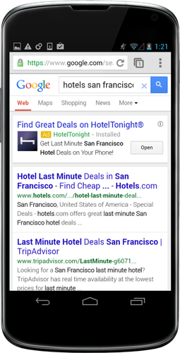 Google users will see more ads directing them into others' mobile apps.