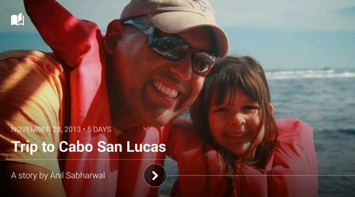 "A photo as displayed in Google's new ""Stories"" mode for Google+."