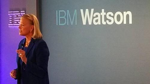 IBM CEO Ginni Rometty talks up cognitive computing at the New York launch of the company's new Watson Group