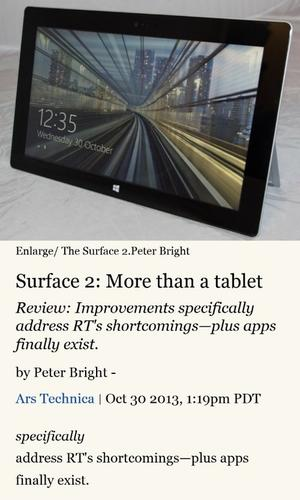 "A ""reader"" feature in IE 11 for Windows Phone 8.1 reformats web pages so text is easier to read"