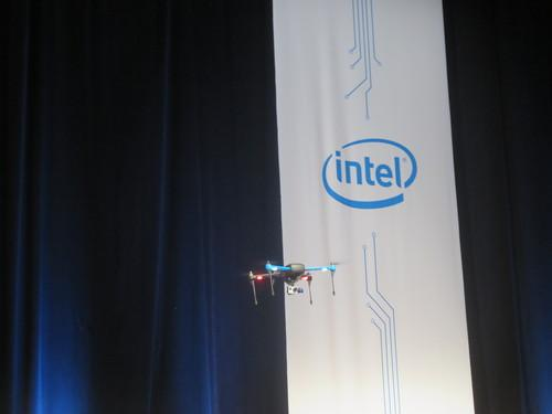 3D Robotics quadcopter at Intel Developer Forum