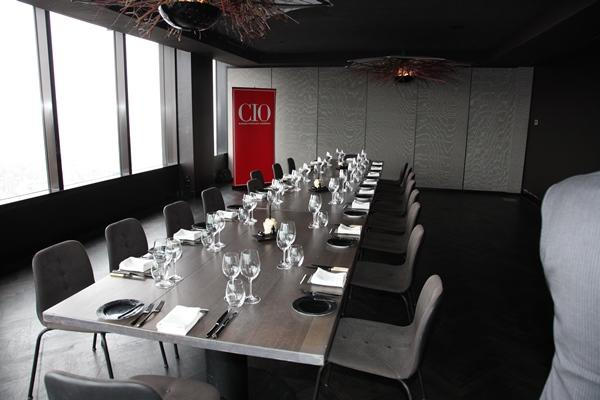 Hitting the heights. CIO roundtable 'Blah' about the get underway at Melbourne's Vue de Monde restaurant. The event was sponsored by Samsung.