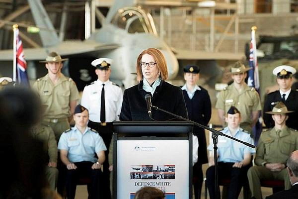 Prime Minister Julia Gillard launches the Department of Defence White Paper on 4 May.