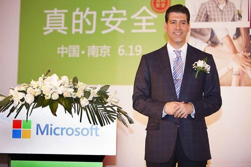 Nick Psyhogeos, Vice President of the OEM Business Solutions Group of Microsoft, in Nanjing, China.