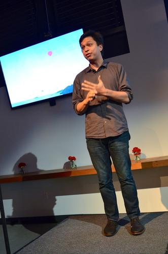 Pinterest CEO Ben Silbermann, pictured on Nov. 20, 2013, discussing the company's new mapping product.