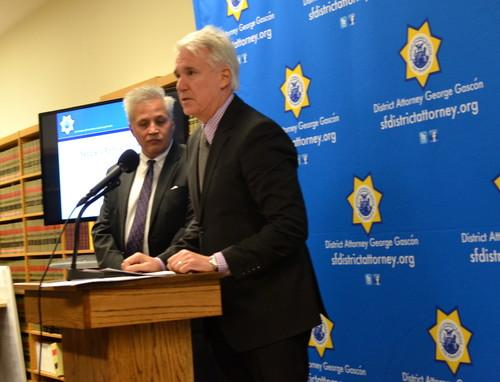 San Francisco district attorney George Gascon, speaking Dec. 4, 2013, during a press conference.