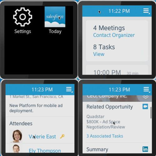 Salesforce Today App on Samsung Galaxy Gear Smartwatch